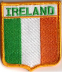 Ireland Embroidered Flag Patch, style 06.